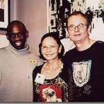 Michael with Christiane & Reynald from Bourbon Lally Gallery